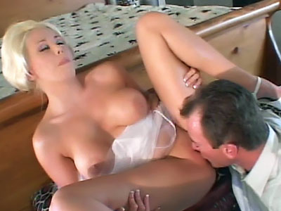 Busty blonde enjoying a hard cock